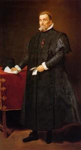 Oidor del Consejo Supremo de Castilla ataviado con garnacha y traje de golilla. Año 1632